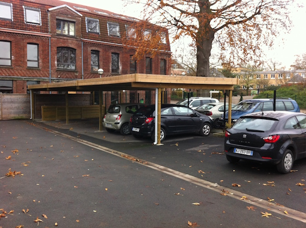Carport sur mesure type pergola en pin sylvestre valenciennes 59 th leman - Garage des tertiales valenciennes ...