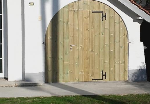 Porte de garage bois LE TOUQUET ( 62 )