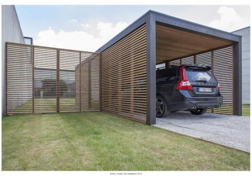 Carport MODU Bois thermochauffé contemporain
