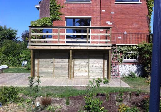 terrasse supendue et ensemble de rangements par leman marcq en baroeul 59 th leman. Black Bedroom Furniture Sets. Home Design Ideas
