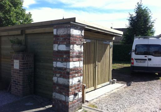 Carport COLLSTROP DOUBLE PORTE DE GARAGE -MOUVAUX-