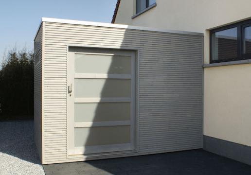 abri cubique avec saturateur gris clair porte coulissante th leman. Black Bedroom Furniture Sets. Home Design Ideas