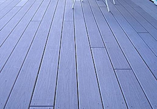 Terrasse bois composite plein FIBERON PRO posé par LEMAN - NORD PAS DE CALAIS