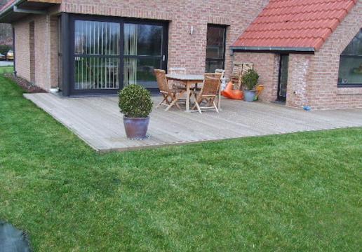 Terrasse bOIS en pin Sylvestre calsse 4 LEMAN - LA BASSE ( 59 )