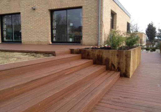 Terrasse en bois composite FIBERON aspect Teck - SOMME ( 80 )