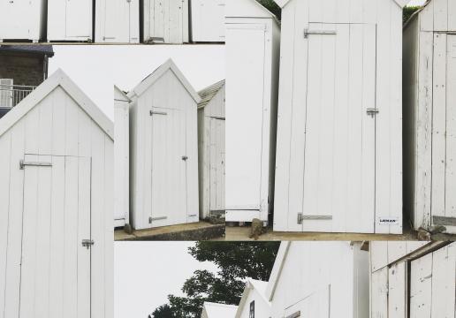 Première cabine de plage à St BRIAC (22) Bretagne