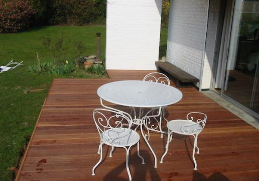 Terrasse en bois exotique PARAJU de chez LEMAN -PREMESQUES ( 59 )