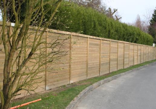 clôturepalissade bois pin sylvestre classe 4  Nord Pas de Calais ~ Pose De Palissade Bois
