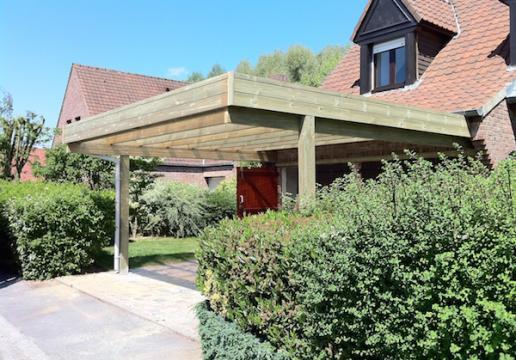 carport type auvent en bois sur mesure leman bousbecque 59 th leman. Black Bedroom Furniture Sets. Home Design Ideas