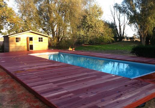 Terrasse en bois PADOUK après la pose - linselles 59