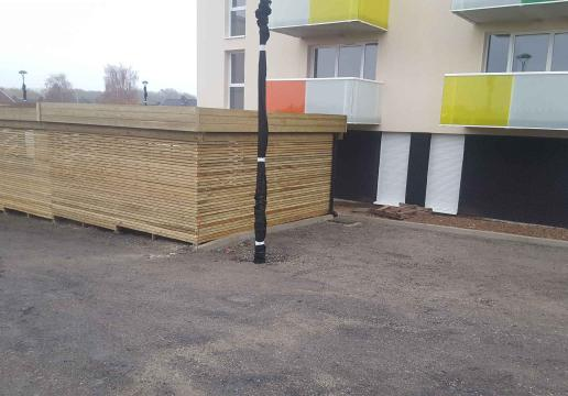 Garage à vélos bois LEMAN sur mesure pour collectivité PAS DE CALAIS-Hauts de France